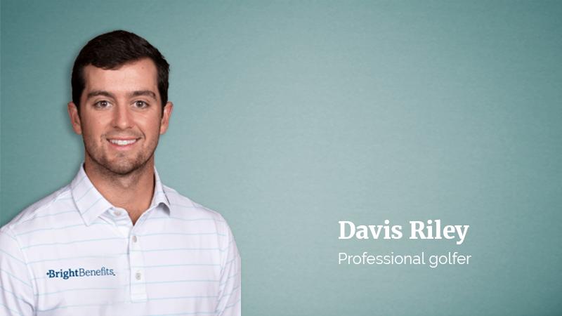 Professional golfer Davis Riley